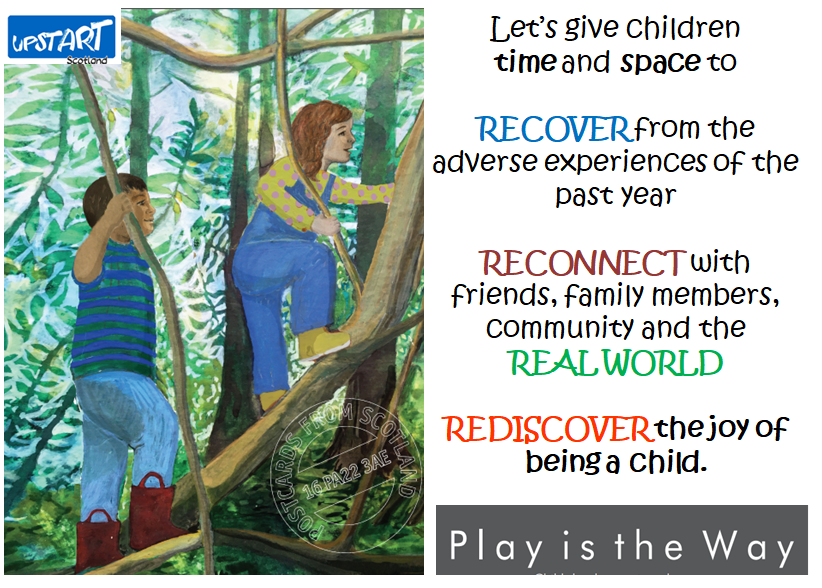 Let's give children time and space to Recover from adverse experiences of the past year.  Reconnect with friends, family members, community and the real world.  Rediscover the joy of being a child.  Play is the way